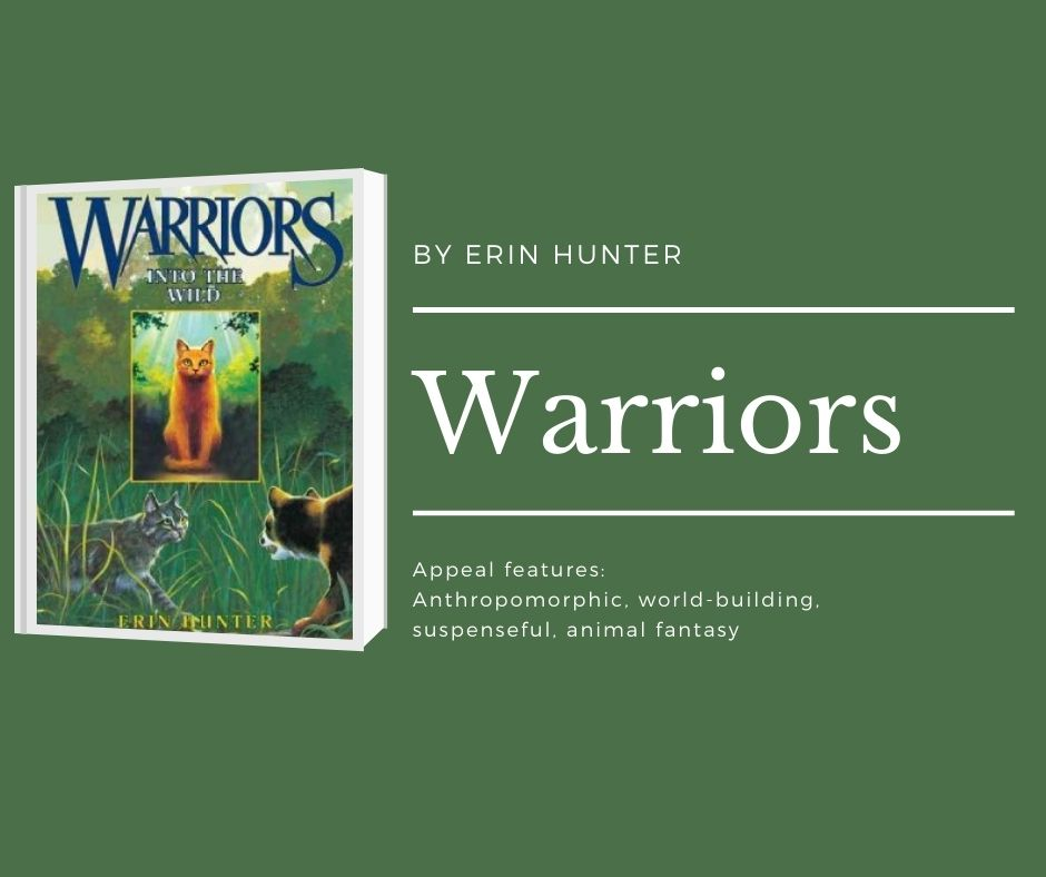 Image of Into the Wild Warriors Original series book 1. text reads by erin hunter. warriors. appeal features: anthropomorphic. world-building, suspenseful, animal fantasy