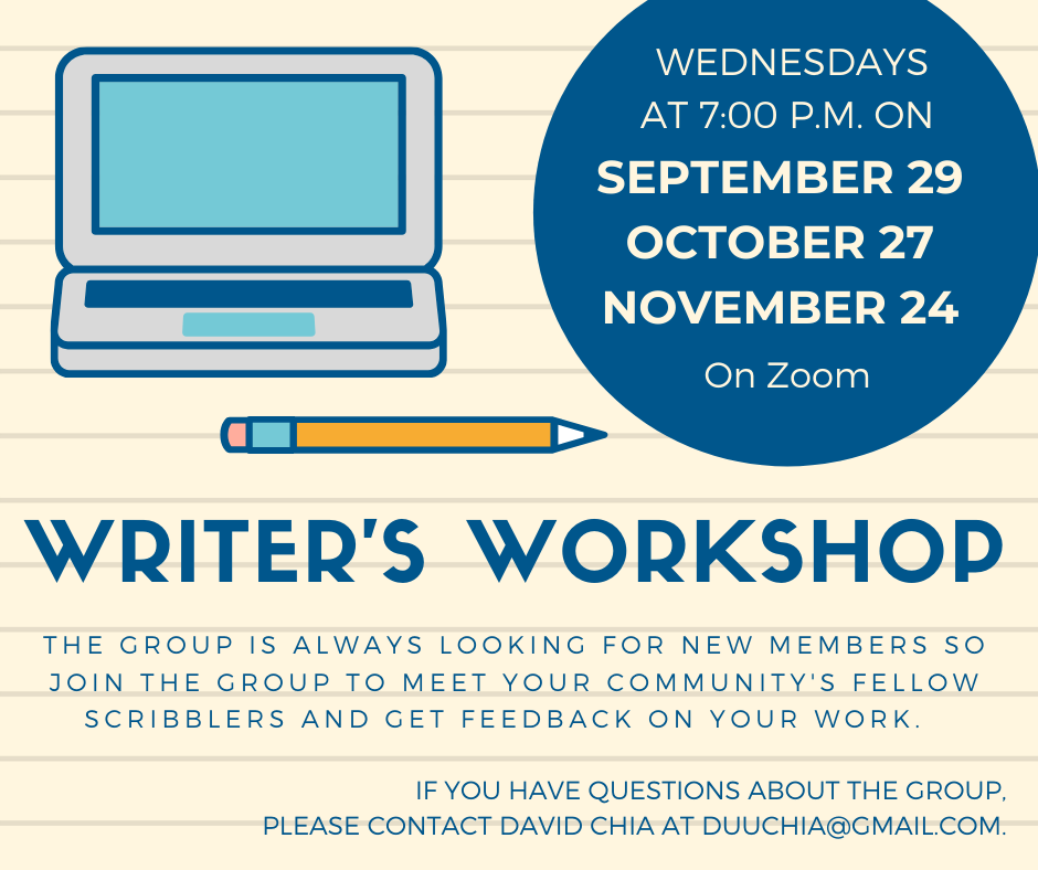 Writer's Workshop Fall 21 Zoom event image