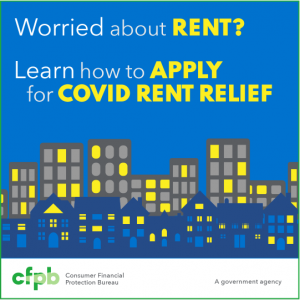 Consumer Financial Protection Bureau tenant and landlord assistance.